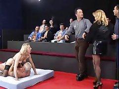 Cumshot Double Penetration Gangbang German