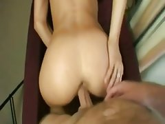 Anal Blonde Close Up Creampie