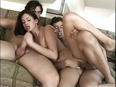 Anal Brunette Double Penetration Facial Threesome
