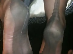 Amateur Cumshot Foot Fetish Stockings