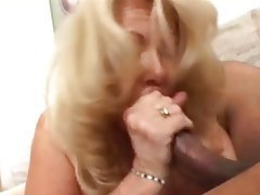 Blonde Granny Interracial Mature Old and Young