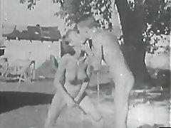 Vintage Blowjob Brunette