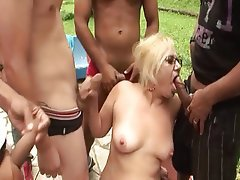 Brazil Granny Group Sex Mature Old and Young
