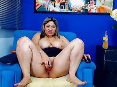 BBW Big Boobs Masturbation Webcam