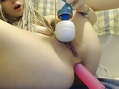 Close Up Creampie Double Penetration Masturbation
