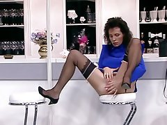 Hairy MILF Stockings Vintage