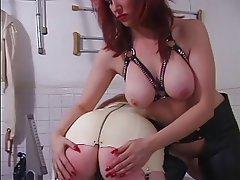 BDSM Lesbian Redhead Latex