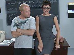 Teacher Glasses Blowjob Babe