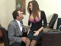 Brunette Office Big Tits Boobs