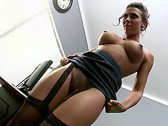 Mistress Stockings Lingerie Brunette