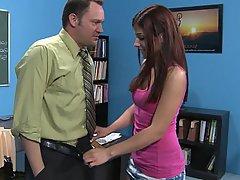 Redhead Blowjob Small Tits Student