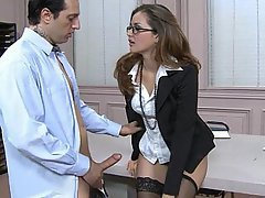 Office Stockings Cute Babe
