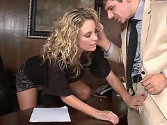 Blonde Beauty Babe Office