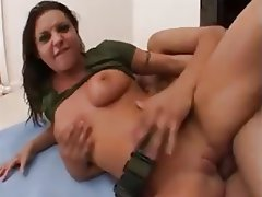 Brunette Cumshot Double Penetration Pornstar Threesome