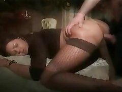 Anal Blowjob Italian Stockings