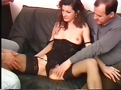 Blowjob Facial Threesome MILF Brunette