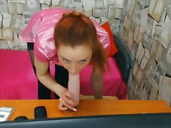 Masturbation Russian Redhead Stockings