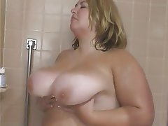 BBW Big Boobs Blonde Interracial Threesome