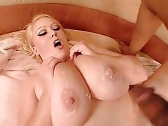 BBW Big Boobs Blonde Masturbation Pornstar