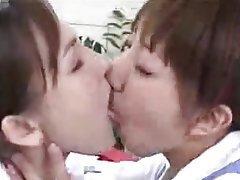 Close Up Japanese Lesbian