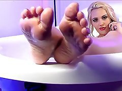 Blonde Foot Fetish Pornstar Shower