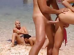 Babe Beach French Group Sex