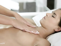 Big Tits Lesbian Massage Masturbation