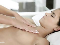 Big Tits Lesbian Massage Masturbation Babe