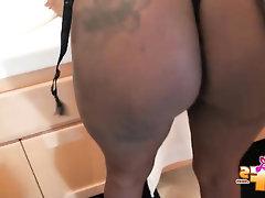 Babe Big Ass Ebony Stockings
