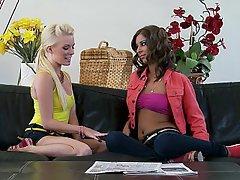 Blonde Brunette Lesbian Skinny