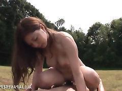 Asian Babe Blowjob Cumshot Public