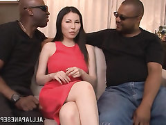 Babe Big Tits Ebony Blowjob Interracial