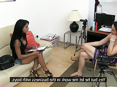 Babe Big Tits Casting Secretary
