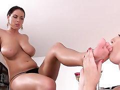 Babe Big Tits Blowjob Feet