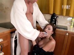 Babe Big Cock Big Tits Blowjob Cumshot
