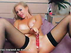 Stockings Masturbation Amateur Big Tits