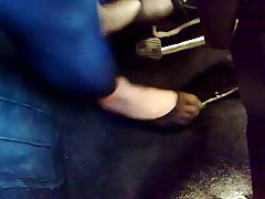 BDSM Femdom Foot Fetish Nylon Stockings
