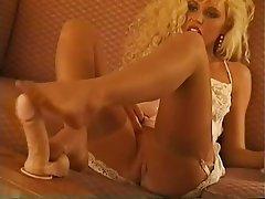 Babe Blonde Foot Fetish Stockings