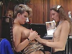 Hairy Lesbian MILF Secretary