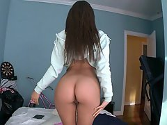 Ass Licking Brunette Dildo Reality