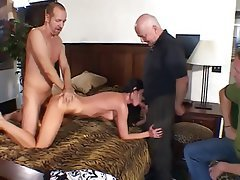 Blowjob Facial Threesome Brunette