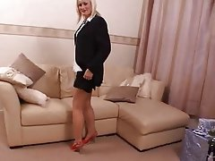 British Masturbation MILF Stockings