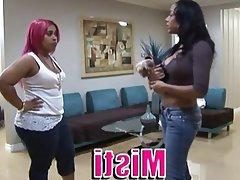 Babe BBW Lesbian Pornstar