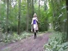 Blonde Blowjob Cumshot German Stockings