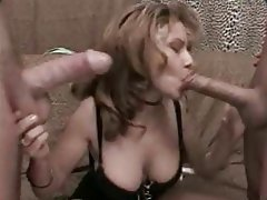 Blowjob MILF Old and Young Threesome