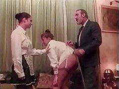 BDSM Threesome Brunette Nylon