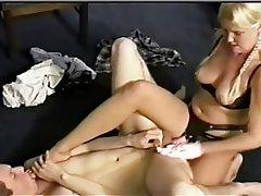 BDSM Femdom Foot Fetish Strapon