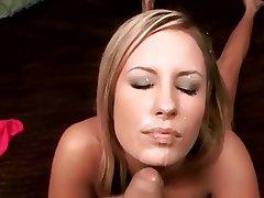 Blonde Cumshot Facial POV