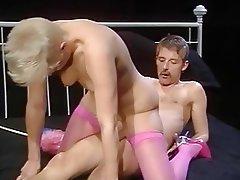 Cumshot German Hairy MILF Stockings
