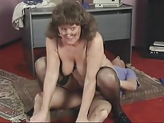 Blowjob Mature Brunette Nylon